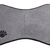 Microfiber Mats Mat Pet Mats Small/Medium Dog Bowl Place Mat with Paw Imprint Design Pet Placemat