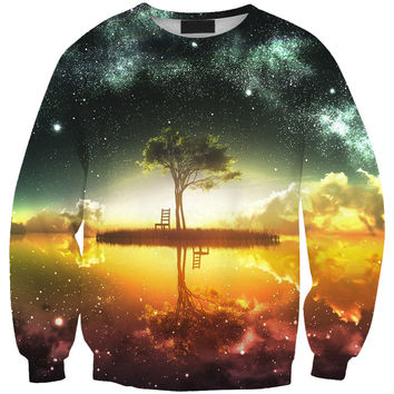 Long Sleeve Pullover Round-neck Print Hoodies = 4817102084