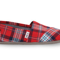 Red Woven Plaid Women's Classics
