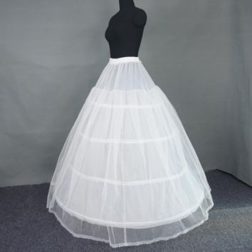 Ball Gown Petticoat Big Skirt 4 circle bone Spandex Waist Puffy Skirt Slip