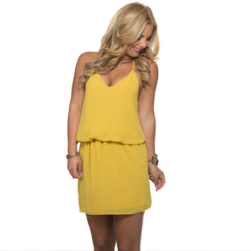 On The Low Dress In Mustard