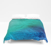 Ocean Sea Water Digital Art Duvet Cover by bluedarkatlem