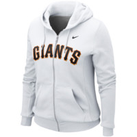 San Francisco Giants Nike Women's Classic Full Zip Hoodie 1.2 – White
