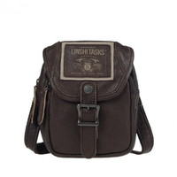 Leather distressed fanny bags waist bags | mini crossbody bag