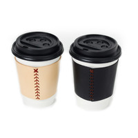 Stitched Leather Coffee Sleeve
