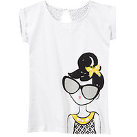 Glitter Sunglasses Girl Tee