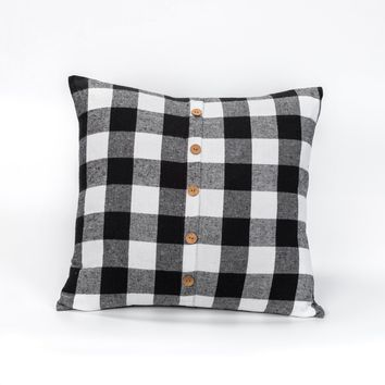 20 IN x20 IN B&W BUFFALO CHECK PILLOW