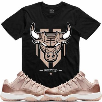 Jordan 11 Rose Gold Sneaker Tees Shirt - LEATHERFACE RK