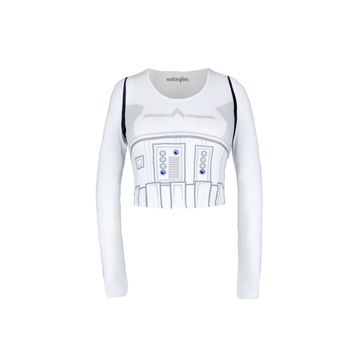 Stormtrooper Long Sleeve Crop Top