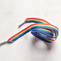 Rainbow Ribbon Shoelaces for Converse