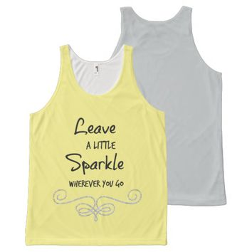 Inspirational Sparkle Quote with Faux Glitter