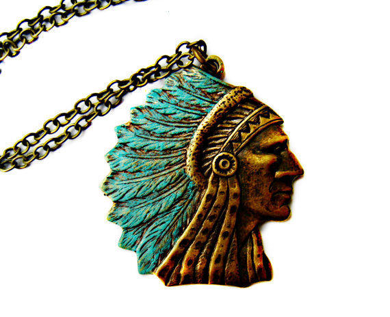 indian chief necklace, tribal necklace, native american, tribal jewelry