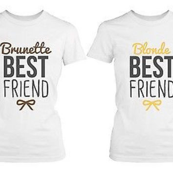 Best Friend Shirts - Blonde and Brunette Best Friends Matching BFF Shirts