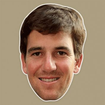 Happy Eli Manning Mask - Perfect for Halloween, Costume Party Mask, Masquerades, Parties, Festivals, Concerts - Jumbo Size Waterproof Laminated Mask