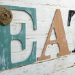 Rustic Chic Wooden Letter EAT Kitchen Home Decor wall hanging personalize custom farmhouse cottage burlap flower sign photo prop gift
