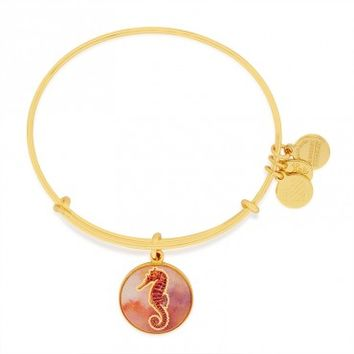Seahorse Art Infusion Charm Bangle