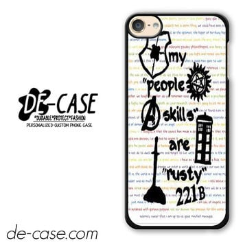 Herlock Supernatural And Dean And Cas DEAL-5261 Apple Phonecase Cover For Ipod Touch 6