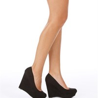 Black Suede Wedges