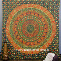 Green Wall Tapestries, Hippie Tapestries, Mandala Tapestries, Tapestry Wall Hanging, Bohemian Tapestries, Wall Art, Dorm Decor Tapestries