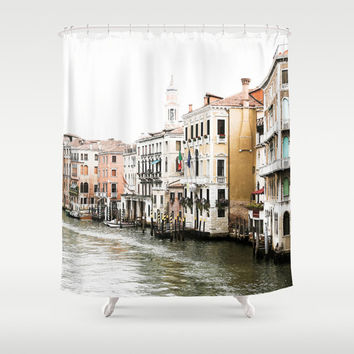 Shower Curtain - Grand Canal Venice Italy - Italy Shower Curtain - Photo Shower Curtain - Bathroom Shower Curtain - Italy - Gifts for Her