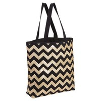 Sequin Tote Bag, Gold Chevron