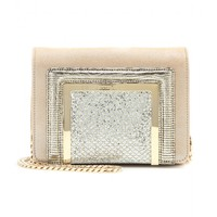 Ava leather clutch