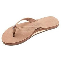 Women's Catalina Tapered Strap Premier Leather Sandal in Dark Brown by Rainbow Sandals