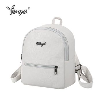 YBYT brand 2018 new preppy style solid women kawaii rucksack simple lychee pattern ladies travel bag student school backpacks