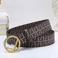 FENDI Woman Men Fashion Buckle Belt Leather Belt
