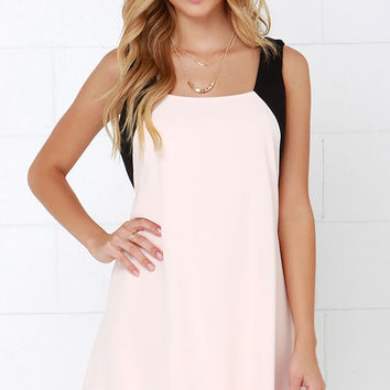 Sway of Life Black and Peach Swing Dress