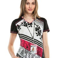 Buy Cherokee Women's On The Spot V-Neck Printed Scrub Top for $22.45
