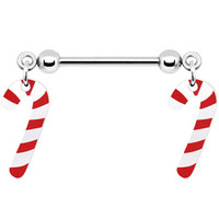 Candy Cane Nipple Ring | Body Candy Body Jewelry