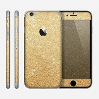 The Gold Glitter Ultra Metallic Skin for the Apple iPhone 6