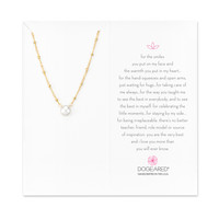 Pearls Of… Beaded Chain Necklace, Gold Dipped | Dogeared