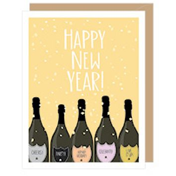 New Year Champagne Boxed Card Set