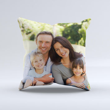 Add Your Own Image  Ink-Fuzed Decorative Throw Pillow