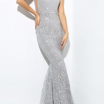 Vandalisha Silver Luxury Gown