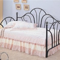 Traditional Style Black Metal Fan High Back Daybed