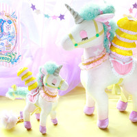 Strapya World : ECONECO Character Animal Parade Plush Doll Bag Charm (Unicorn / Unita)