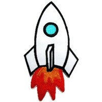 Rocket for Kids Logos Embroidered Iron on Patches