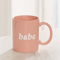 Babe Mug – Light Pink | Urban Outfitters