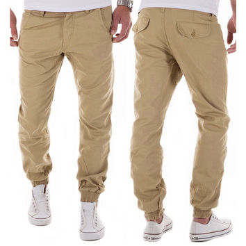 Casual Mens Tactical Hip Hop Slim Military Style Trousers