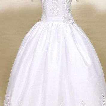 Calla Embroidered Organza Dress