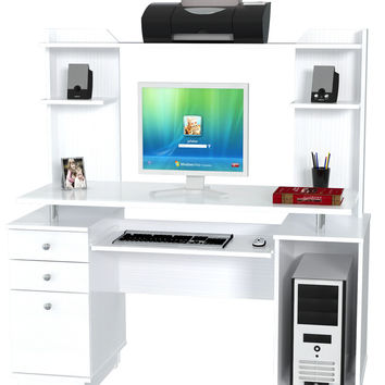 Computer Workcenter/Credenza with Hutch