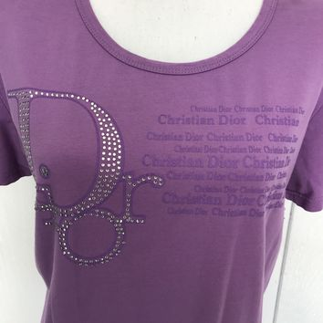 Christian Dior Boutique Lavender T-Shirt, Size XL