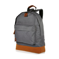 River Island MensDark grey Mipac backpack