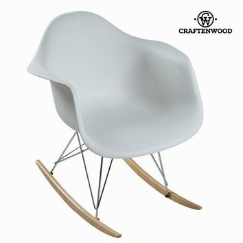 Polypropylene white rocking chair by Craften Wood