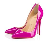 Pigalle Follies 120mm Indian Rose Patent Leather