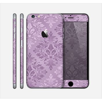 The Light and Dark Purple Floral Delicate Design Skin for the Apple iPhone 6 Plus