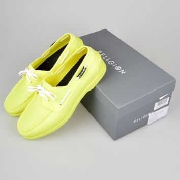 Religion Clothing Lightweight Rubber Boat Shoes HV14SHM41 - Yellow